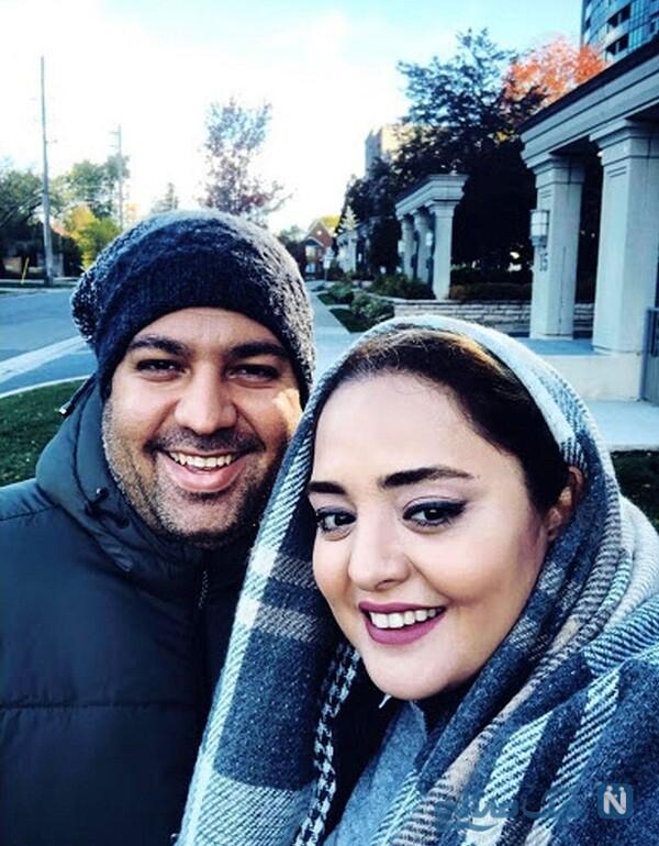 نرگس محمدی و همسرش