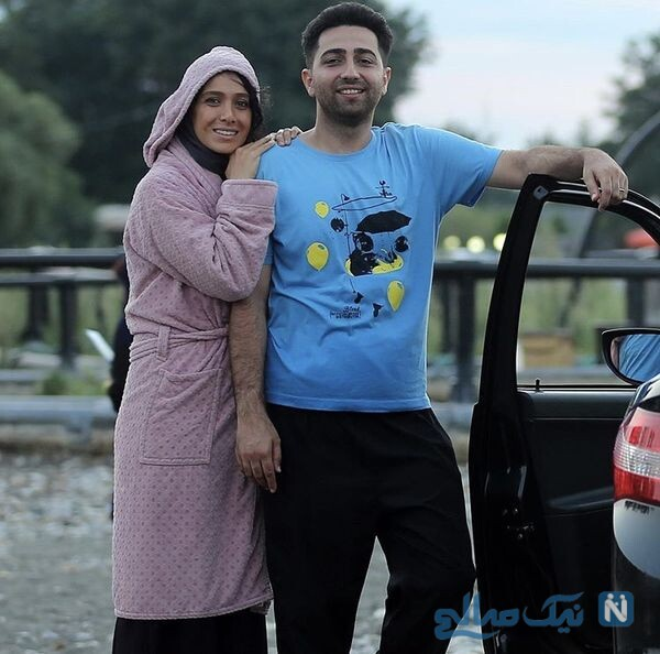 سارا نجفی و علی سخنگو در پشت صحنه دل