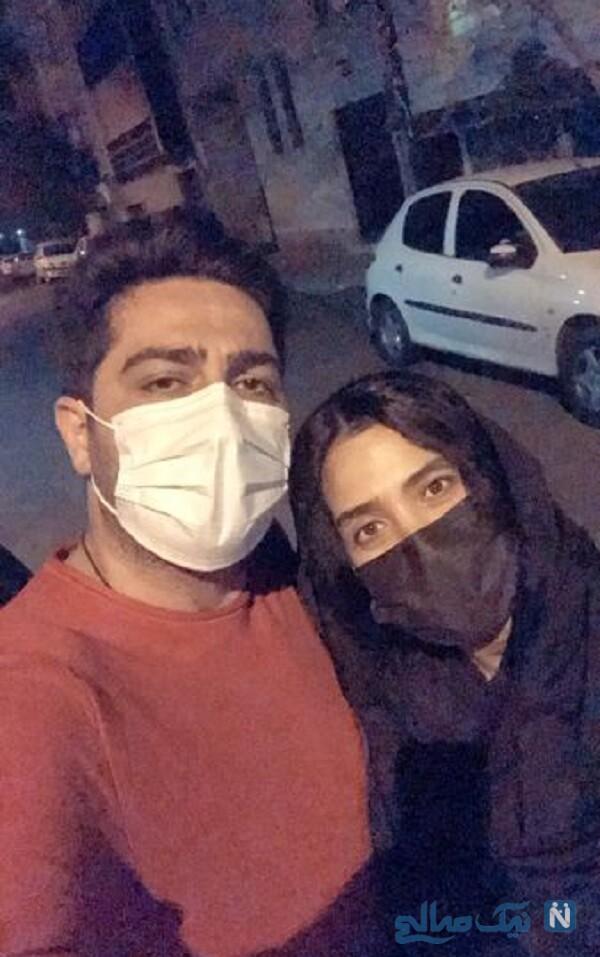 گردش شبانه علی سخنگو و سارا نجفی