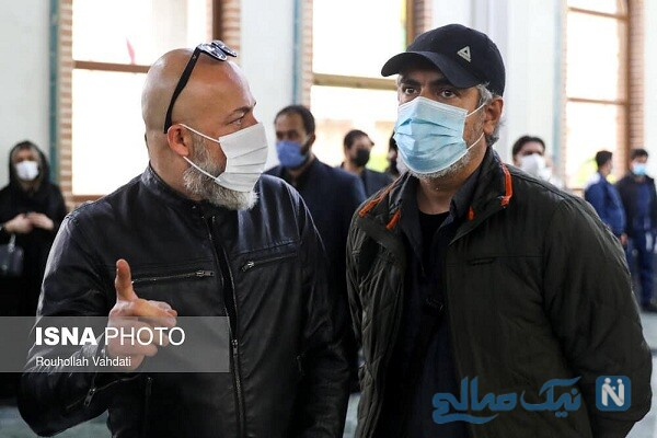 مهدی پاکدل و امیر آقایی در مراسم استاد آواز ایران