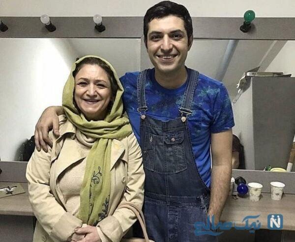 مادر اشکان خطیبی بازیگر