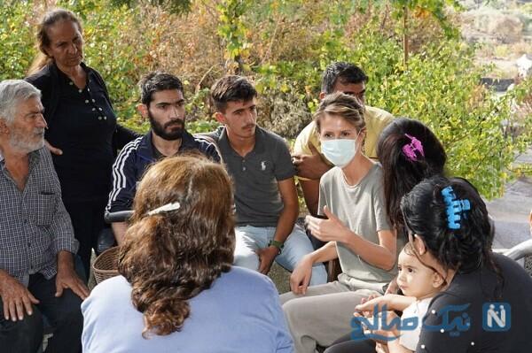 اسما اسد بانوی اول سوریه در یک بازدید
