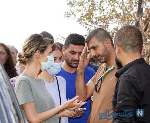 اسما اسد در یک بازدید