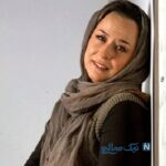آزیتا حاجیان و دخترش ملیکا شریفی نیا در پشت صحنه سریال نجلا
