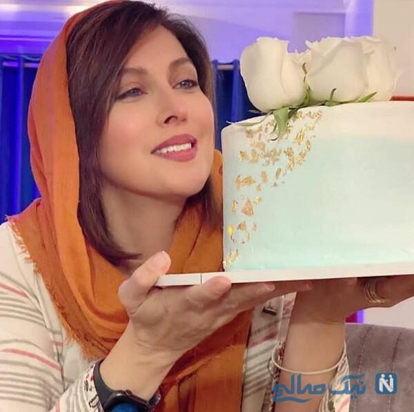 جشن تولد ۵۰ سالگی مهتاب کرامتی با کیک زیبایش