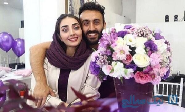 دریا مرادی دشت بازیگر جوان و همسرش