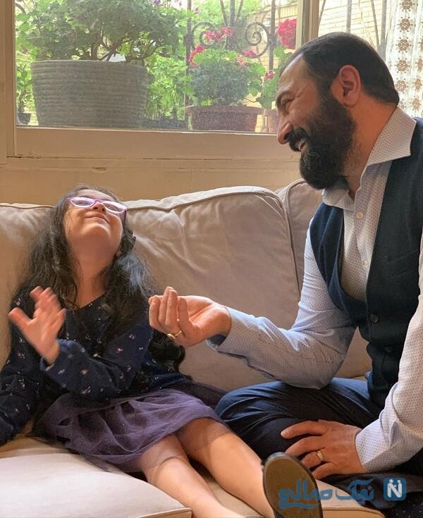ناز کردن حنا دختر مجید صالحی در روز جهانی دختر