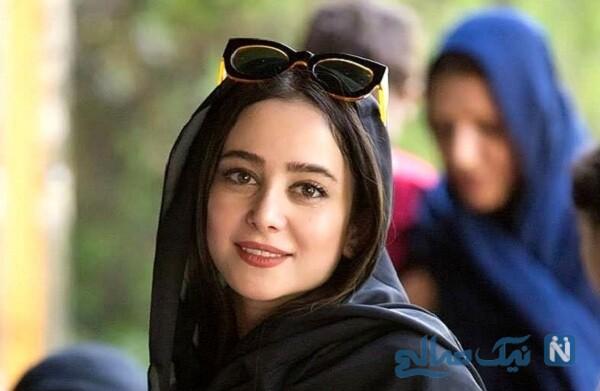 الناز حبیبی بازیگر سریال دوپینگ در لوستر فروشی مدرن تهران