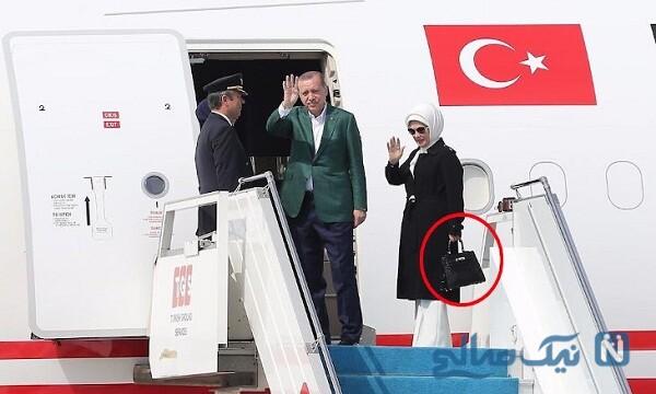 کیف جنجالی همسر اردوغان