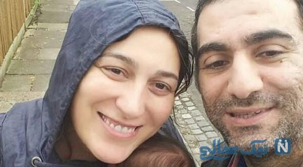 فلامک جنیدی و همسرش