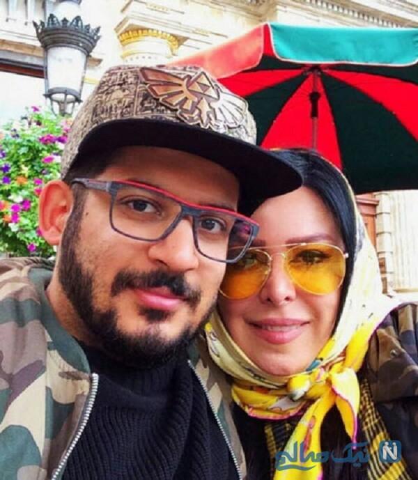 فلور نظری بازیگر ایرانی و پسرش