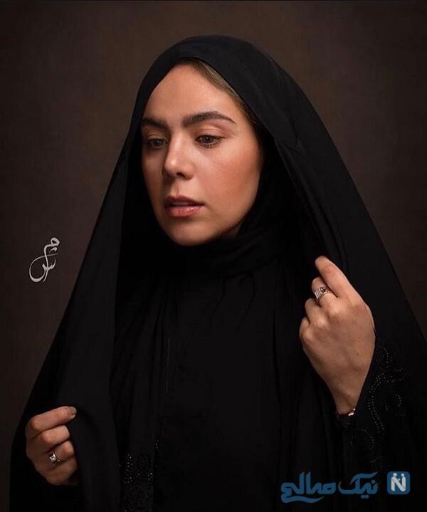 بازیگر زن با چادر
