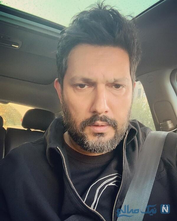 سلفی حامد بهداد در ماشین لاکچری اش