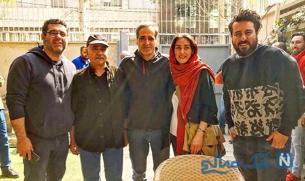 هدیه تهرانی و بازیگران سریال هم گناه