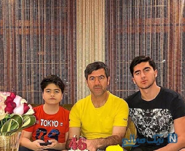 تولد کریم باقری در کنار پسرانش