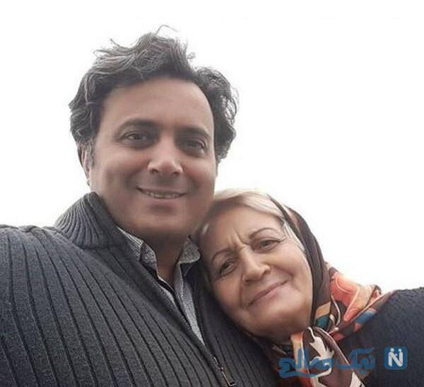 مجید اخشابی خواننده معروف و مادرش