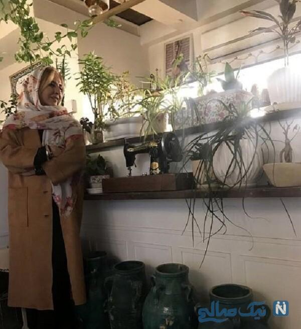 مرجانه گلچین در خانه لاکچری اش