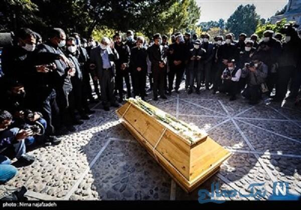 مراسم خاکسپاری محمدرضا شجریان