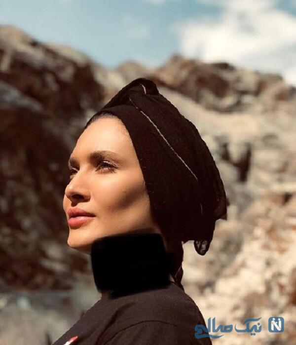 ظاهر جدید ساناز سعیدی