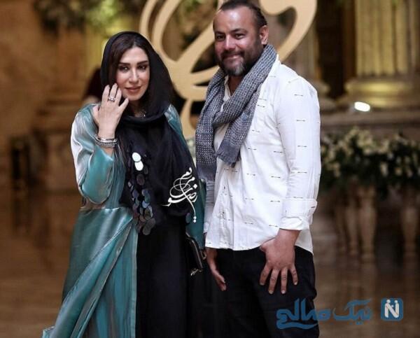عکس جدید نسیم ادبی و همسرش
