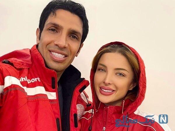 عکس جدید سپهر حیدری و همسرش آرام جوینده