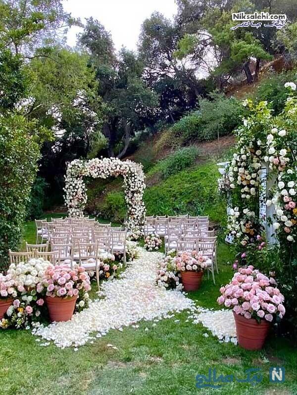 گل آرایی محل عروسی