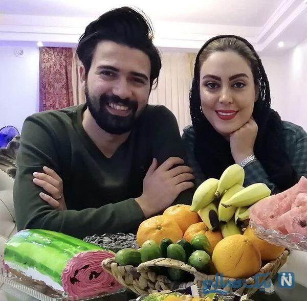 نیلوفر شهیدی بازیگر سریال وارش و همسرش