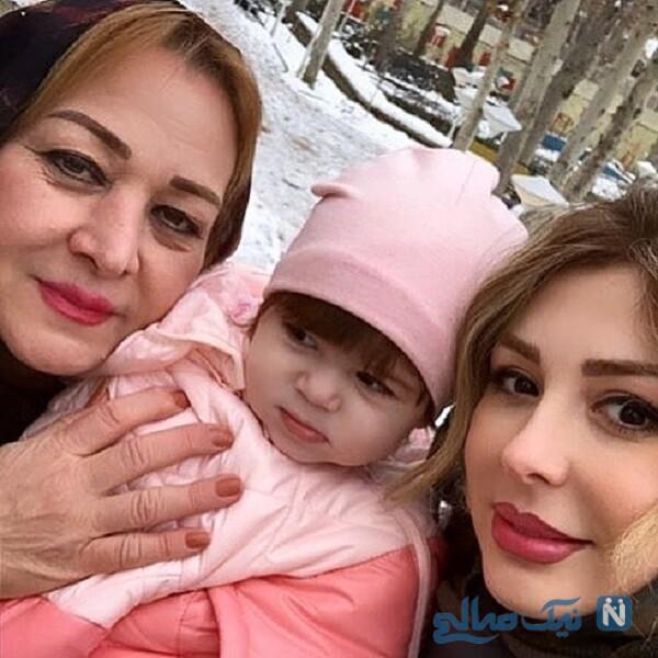 نیوشا ضیغمی درکنار مادر و دخترش