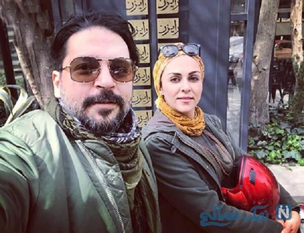 عکس شیوا ابراهیمی و همسرش