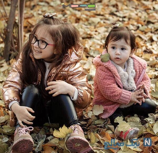 عکس پاییزی دختران شاهرخ استخری