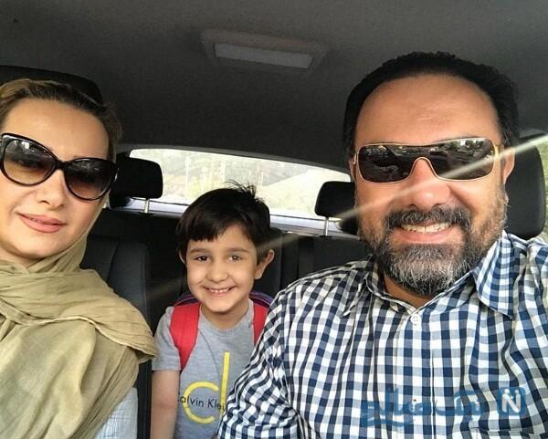 عکس پسر برزو ارجمند و همسرش