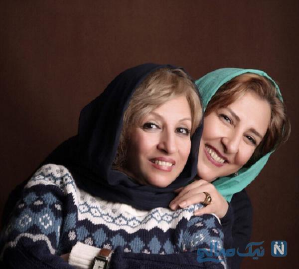 عکس مرجانه گلچین و خواهرش منیژه
