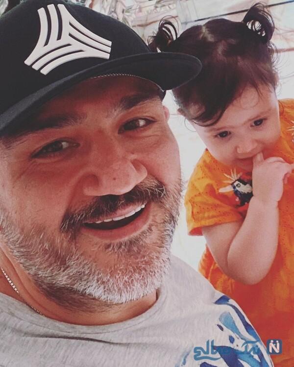 تصویری از مهران غفوریان و دخترش هانا