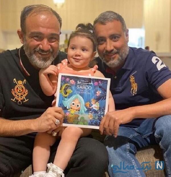 عکس جدید مهران غفوریان و دخترش