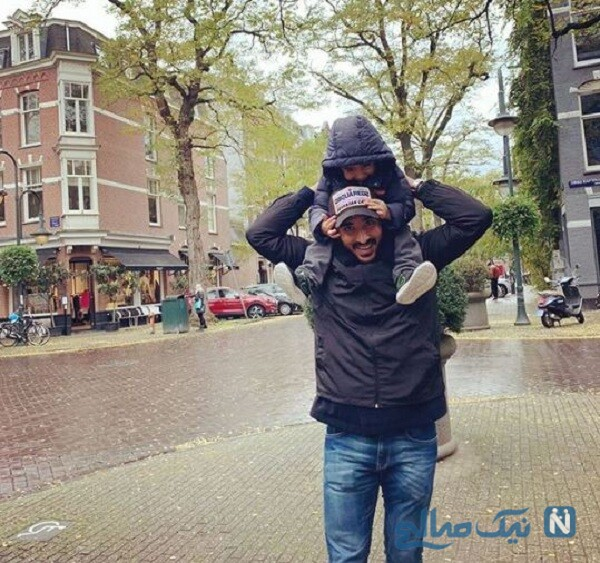 تفریح رضا قوچان نژاد و پسرش