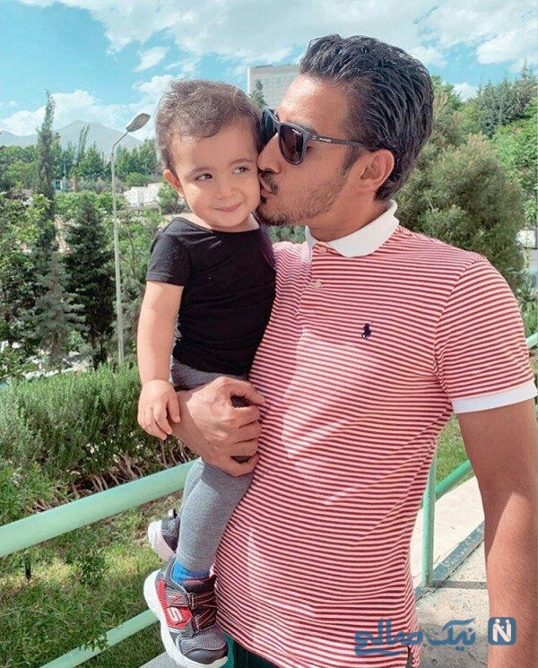 عکس رضا قوچان نژاد و پسرش دوران