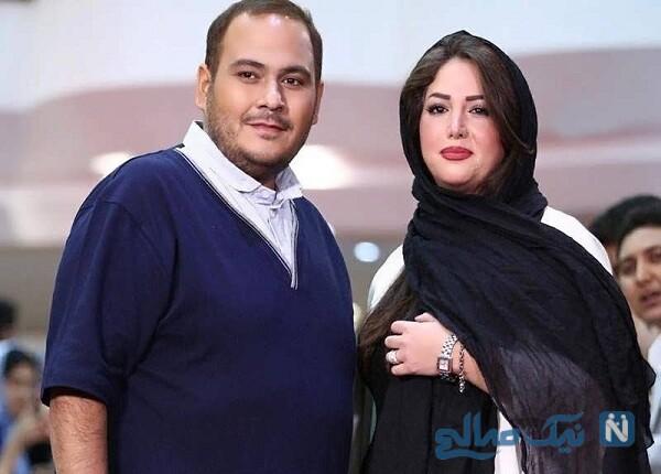 رضا داوود نژاد وهمسرش غزل بدیعی