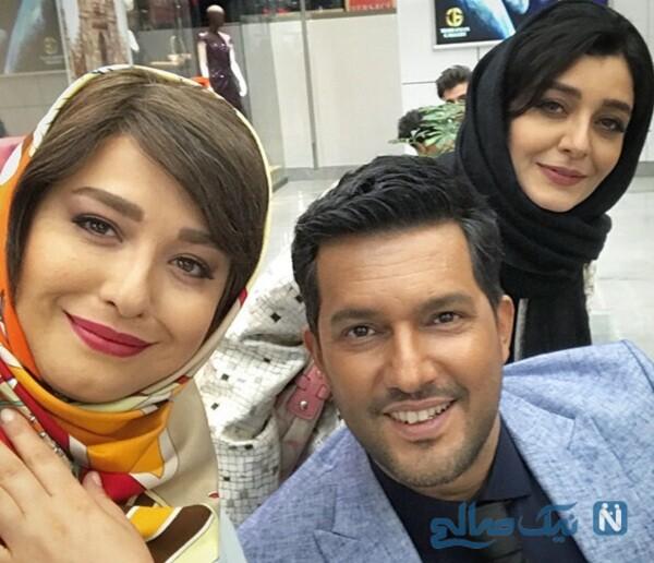 سلفی مهراوه شریفی نیا با حامد بهداد و ساره بیات