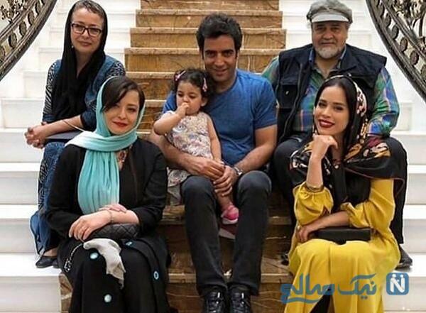 مهراوه شریفی نیا درکنار خانواده اش