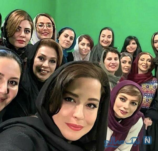 مهراوه شریفی نیا و بازیگران سریال دل