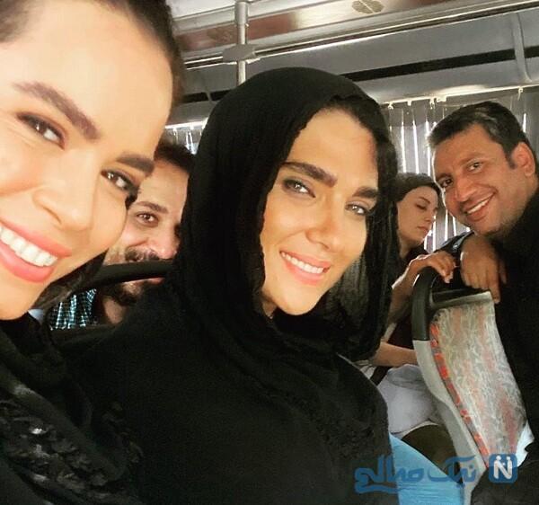 ملیکا شریفی نیا در پشت صحنه نجلا
