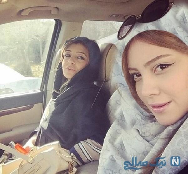 ساره و سروین بیات همسر رضا قوچان نژاد