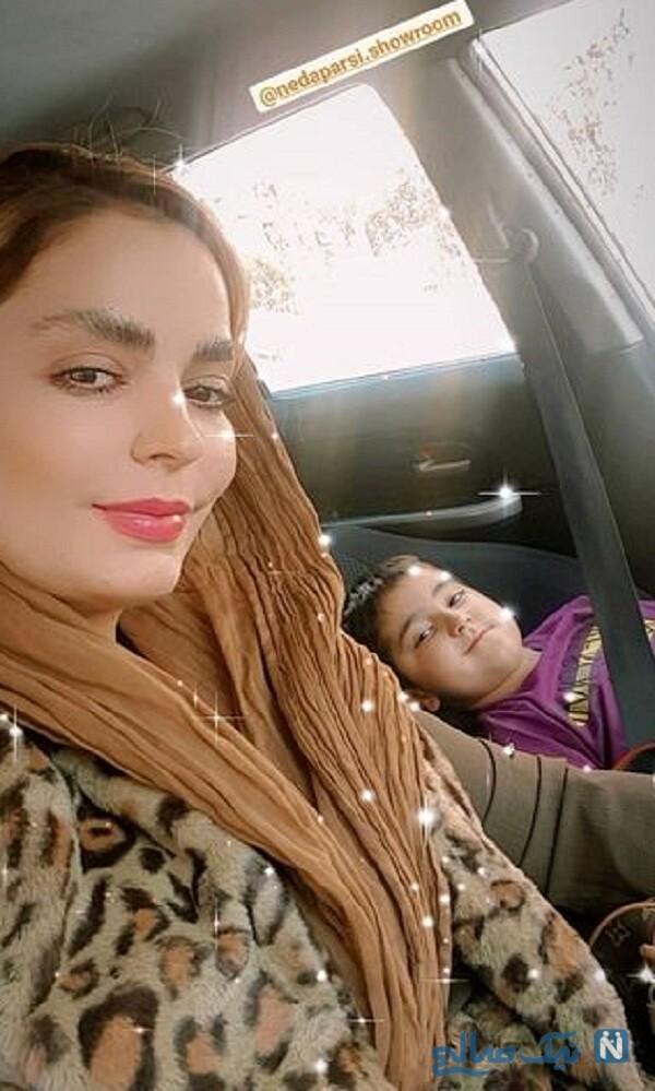 سپیده خداوردی و پسرش در خودرو شخصی شان