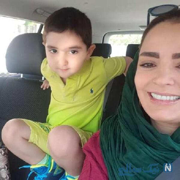 سلفی سپیده خداوردی و پسرش سانیار