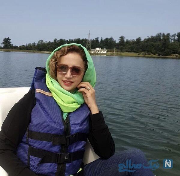 قایق سواری شبنم قلی خانی