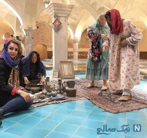 سفر خانم بازیگر به اصفهان