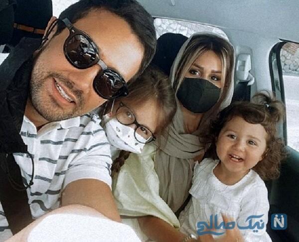 شاهرخ استخری و خانواده اش در ماشین لوکس