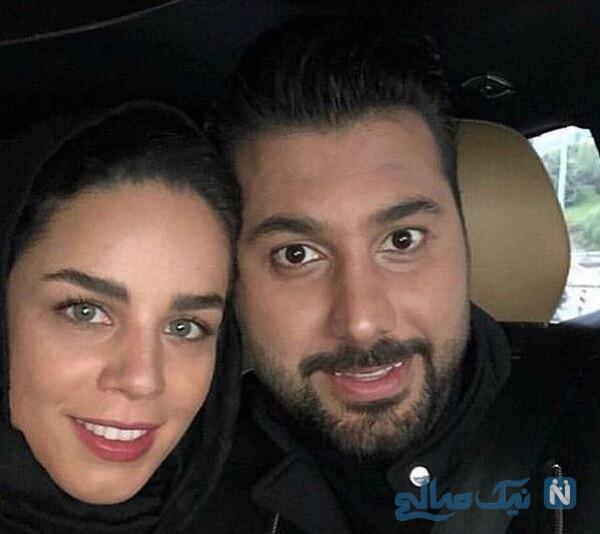 احسان خواجه امیری خواننده معروف و همسرش