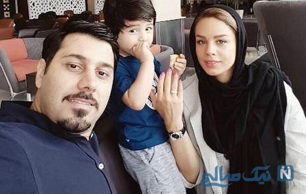 همسر و پسر خواننده ایرانی