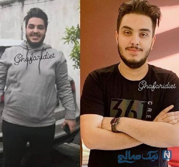 قبل و بعد از لاغری آرون افشار